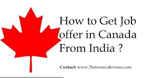 Getting Job Offer How To Get Job Offer In Canada From India 2019 Find Job In Canada