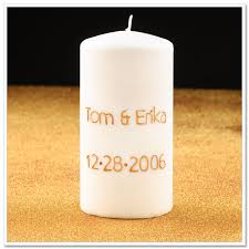 diy project engraved wedding candle