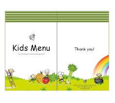 Free Kids Menu Templates Photo Cute Colorful Kids Meal