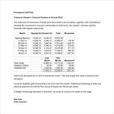 Non Profit Treasurer Report Template Treasurer Report Template 17 Free Sample Example Format