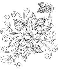 Henna Flower Coloring Page By Tabbystangledart