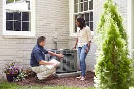 home HVAC unit inspection