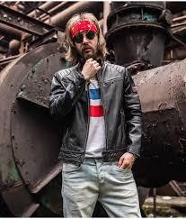 motorcycle leather jacket mens motorcycle coat biker style