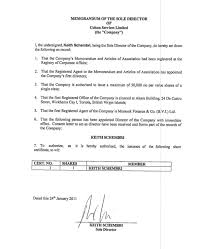 Memorandum Of Sole Director - Daphne Caruana Galizia's Notebook ...