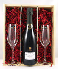 2007 bollinger grand annee vine chagne with two riedel chagne flutes