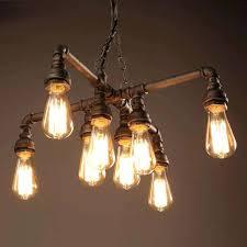 edison light chandelier hanging