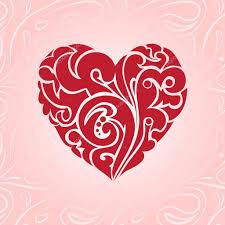 swirl decorative heart stock vector