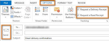 Confirm Of Receipt Get Email Delivery Confirmation Read Receipt In Outlook