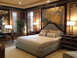 Attractive Top Asian Style Bedroom Design With Comfy Grey Upholstered Bed  Frame And Twin Glossy Nightstand Ideas