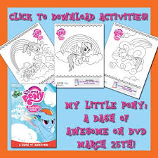 Small Picture Free Activity Sheets and Video Clip from the New My Little Pony DVD