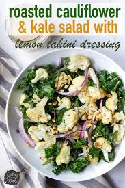 Cauliflower Salad Recipe Cooking Light Roasted Cauliflower And Kale Salad With Lemon Tahini