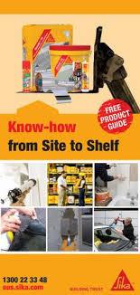 Sika Know How Site To Shelf Catalogue By Sika Australia Issuu