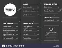 Restaurant Menu Template Modern Dark Minimalistic Restaurant Menu Template With Three