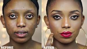 full face makeup tutorial neutral eyes bold lips makeup transformation you