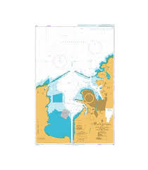 British Admiralty Nautical Chart 3111 Atlantic Entrance To Panama Canal Including Adjacent Ports