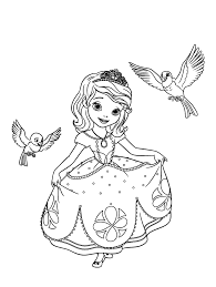 Princes Sofia Free To Color For Kids Sofia The First Kids Coloring