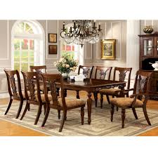 formal dining room table awesome furniture of america ella formal 9 piece dark oak dining set