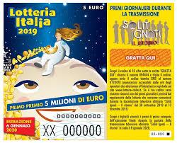 Lotteria Italia 2019: 6,7 milioni i biglietti venduti, calo ...