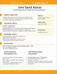 Demo Resume Format Demo Resume format Luxury Sample One Page Resume Sample Resume 2