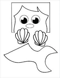 Paper Bag Puppets Printable Free Mermaid Printable Template Free