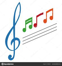 Simple Musical Note Symbol Treble Clef Concept Music Notes Treble