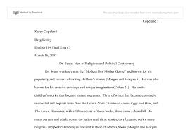 dr seuss essay gcse english marked by teachers com document image preview