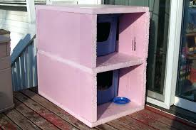 outside cat house picture of finishing touches to front of condo cat house outside winter outside cat house outside cat house plans