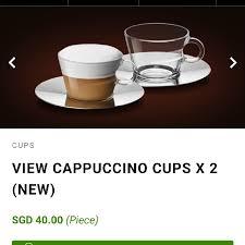nespresso glass cappuccino glass collection 2 pcs home appliances on carou