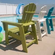 POLYWOOD South Beach Recycled Plastic Kids Adirondack Chair | Hayneedle