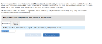 Microsoft Corporate Bonds Solved For Several Years Fister Links Products Has Held M