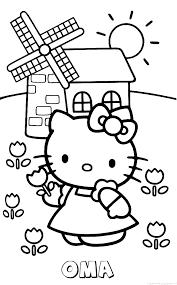 Oma Hello Kitty Naam Kleurplaat