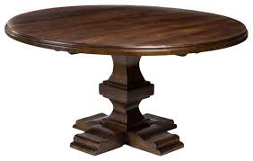 summerton round solid wood dining table traditional dining tables by mahogany more