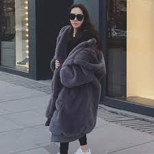 plus size faux fur top women winter coat thick imitation rabbit fur long outerwear hooded warm female jacket student parkas x866 uk 2019 from bearlittle