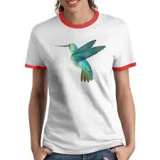 Black Sp Funny Hummingbird Cute T Shirts For Women Casual