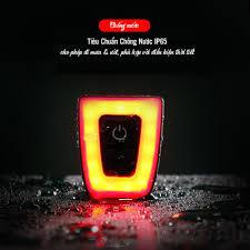 Đèn LED Báo Hiệu Cảnh Báo- Đèn Hậu Xe Đạp 5 Chế Độ Sáng Nhấp Nháy Sạc Điện  Usb Chống Nước Chiếu Sáng Đến 56 Giờ - Phụ kiện - Đồ nghề
