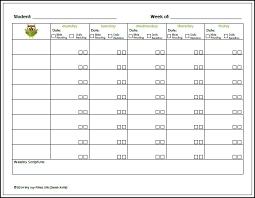 Weekly Homework Assignment Sheet 8 Best Photos Of Printable Weekly Assignment Sheet
