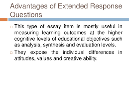 essay type test 14 advantages of extended response questions   this type of essay