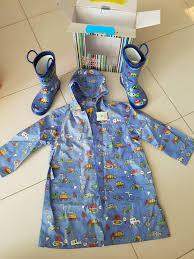 Pluie Pluie Truck Raincoat And Rain Boots Set Babies Kids
