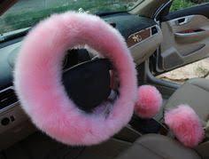 <b>KKYSYELVA</b> couverture de volant de voiture chaude rose fourrure ...