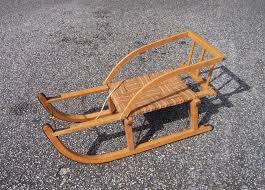vintage childs wooden sled