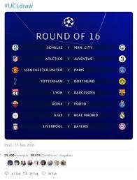 Here's how it will work. Champions League Auslosung Achtelfinale Mit Bundesliga Gegen Premier League