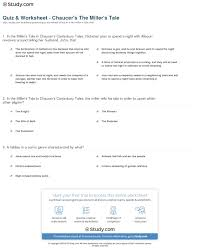 canterbury tales worksheets delibertad quiz worksheet chaucer s the miller s tale study com chaucer`s the canterbury tales
