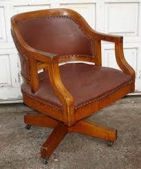 antique oak leather swivel office desk chair antique oak office chair