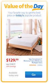 Walmart Value of the Day Spa Sensations 8 Memory Foam Mattress
