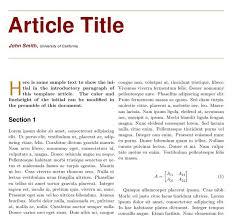 Magazine Article Format Sample
