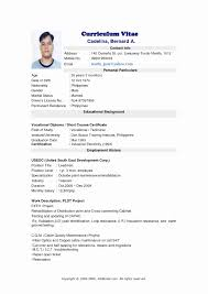 Simple Resume Format Sample Resume Jobstreet Philippines Best Of 100 Fresh Most Accepted 82