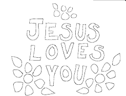 Coloring Page Of Jesus Faith In Jesus Loves Me Coloring Page