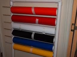 vinyl roll storage on the