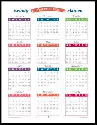 year calender 2016 year on page printable calendars are here