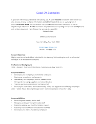 An Example Of A Good Resume Resume Templates